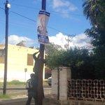 No mas pendones en Hermosillo, excelente noticia.Así que los pendones de políticos, de artistas y otros van pa abajo. http://t.co/Z02L9LZ5ed