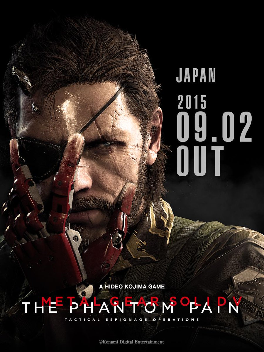 『METAL GEAR SOLID Ⅴ: THE PHANTOM PAIN』 9月2日に発売決定!http://t.co/cm9ur7QJHN  #mgsv #PS4 #PS3 #XboxONE #Xbox360 #Steam http://t.co/nl9mrWRdtB