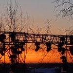 The #sunrise 10 days before @Redbull @CrashedIce at @EdmontonSCC. #yegwx #yegdt #ExploreEdmonton http://t.co/49SghfXOuD