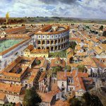 Great reconstruction of #Roman #Canterbury, courtesy of @CRomanMuseum #Kent #archaeology http://t.co/OFucVu0W1I