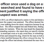 DOJ on #Ferguson police and the use of dogs: http://t.co/UBq9nCftBl http://t.co/hju5FR0vTj