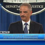 """AG Eric Holder: """"Our investigation showed that #Ferguson police officers routinely violate the Fourth Amendment."""" http://t.co/pRrwLadO7r"""
