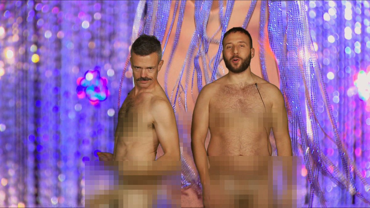 Q: Y'all really naked? A: We're #BornNaked, the rest is pixellated. #ExtraLapRecap #DragRace http://t.co/9Afv0YYuoZ http://t.co/reffEJfQXR