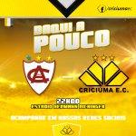 O Criciúma encara o Atlético de Ibirama nesta quarta-feira (04/03), às 22 horas, no estádio Hermann Aichinger. #CEC http://t.co/PJw85xlAlv