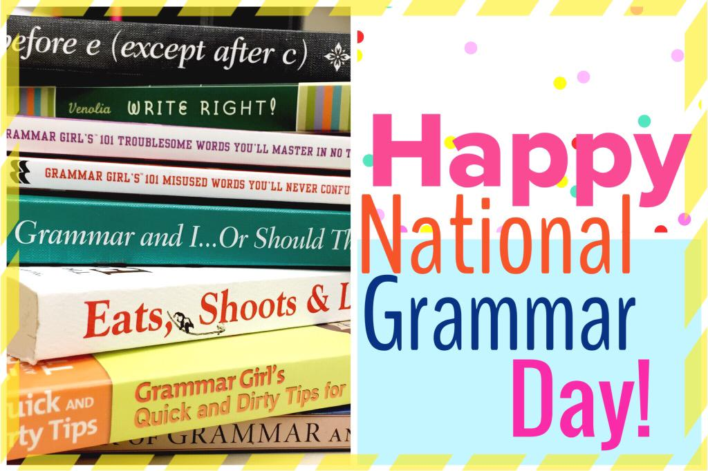 Neenah Library (@neenahlibrary): Happy #NationalGrammarDay NPL loves grammar & we have the books to prove it! #Ibeforeeexceptafterc #commassavelives http://t.co/F4A0SokMEN