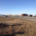 Expect delays if driving W past Coalhurst. Emergency crews cleaning up after collision. No word on injuries #YQL http://t.co/Z7qkVFd2vA