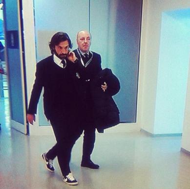 Andrea Pirlo wears Blazer (Sneakers )