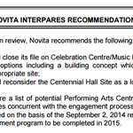 UPDATE: Novita consulting report, however, doesnt close the door on the concept of a Performing Arts Centre. #ldnont http://t.co/jgg3ksCrzy