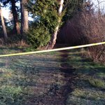 West Shore RCMP still guarding a cordoned off pathway at north end of Glen Lake, awaiting details from RCMP #yyj http://t.co/iVDIkaib5X