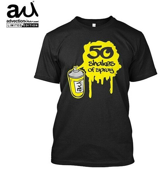 http://t.co/1Pe9fzXs5G the 50 shakes graff tee is now available from my peoples at @advectionwear go check it out!! http://t.co/JXnYZszt69