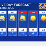 Dorys 5 day forecast #yql #lethbridge http://t.co/P5wlXsXf2n