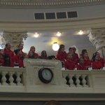 Roosevelt Elementary choir waiting for the #IdahoDay15 program. http://t.co/d5M5sQYhM3