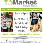Hey #worthinghour its our first ever #farmersmarket this Saturday! Please RT & come & join us from 9am :) #Worthing http://t.co/QbEkryNoS4