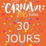Plus quun mois avant le #CarnavaldeToulouse !! Réservez votre 4 avril ???????? #Toulouse #Carnaval http://t.co/7jAWTO78U1