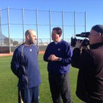 Were at @brewers camp today where former Brewer @Plesac19 chats with @Fiers64! #30Clubs30Days http://t.co/P23ubVOm4a