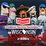 Tonight, @tmj4 viewers, behold the power of the Racing Sausages. #Brewers http://t.co/XsZbpWSyVR