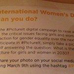 RT @LyndaLopez08: What can you do... ? #InternationalWomensDay @unfoundation #IWD2015