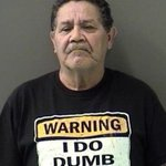 Man arrested wearing Warning: I do dumb things T-shirt http://t.co/eT5EXvYDMk (photo: Bell Co Sheriffs Dept.) http://t.co/rNkRlCVVYc