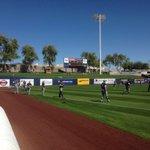 The @MKE_Baseball is warning up! http://t.co/8wmIj8jmNk