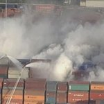 Containers burn at Port of Vancouver; residents warned about potentially dangerous smoke. http://t.co/OWa3daZiZt http://t.co/p1lTgEKcWw