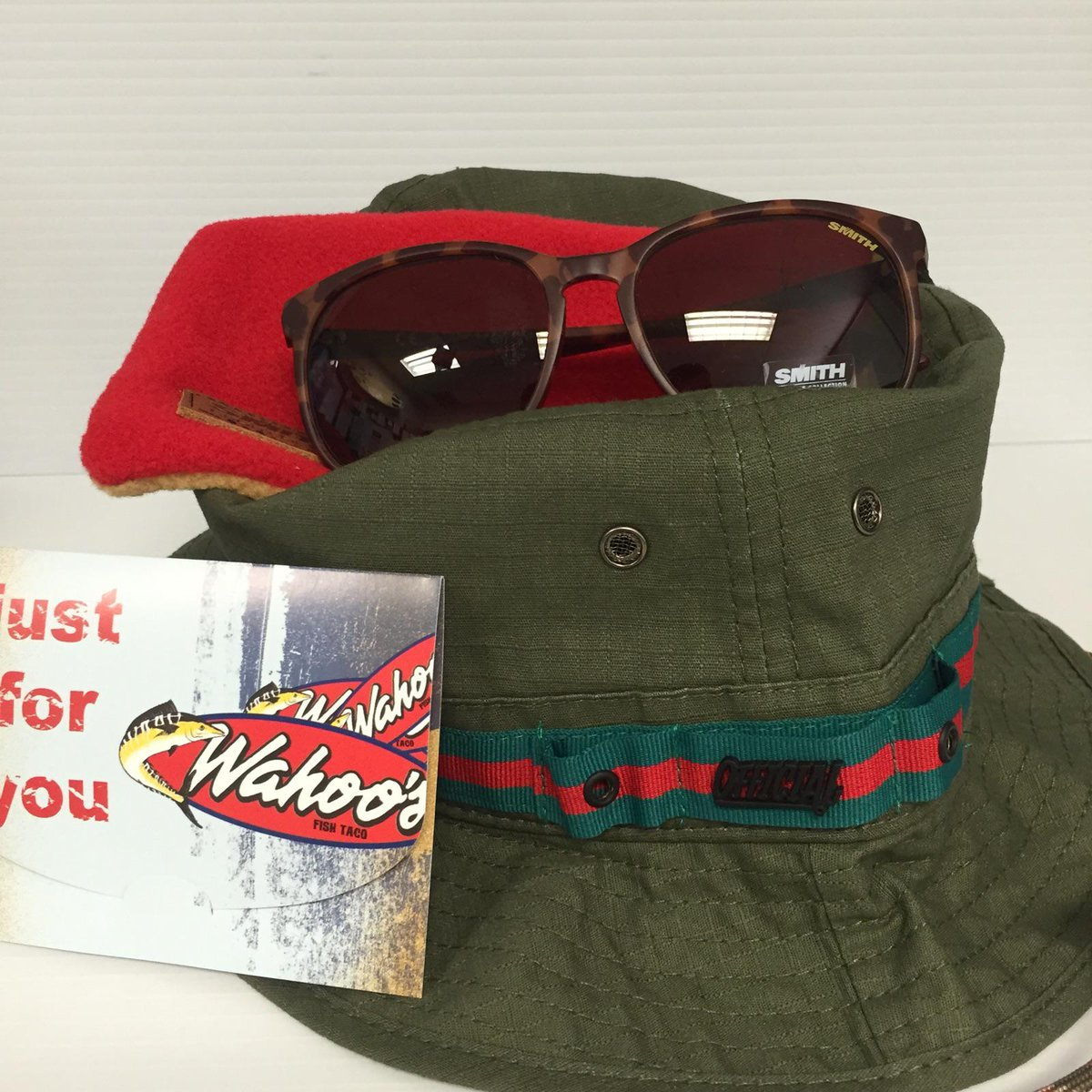 #WahoosWednesday! Follow/retweet and this Offical Bucket Hat, Smith Sunglasses, and gift card could be yours! http://t.co/s2s1lAf8Qg
