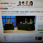 CBC Torontos townhall Just in Time Jobs is live to http://t.co/P9lUFp205e and on 99.1fm. Join us #cbctownhall http://t.co/IRcM4spDWx