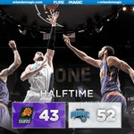 RT if you liked that first half! Magic 52, Suns 43. @NikolaVucevic scored 14. #PureMagic http://t.co/3k9grkyFxr