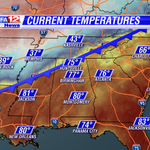 Big time cold front now entering NW Alabama. Major temperature drop behind the boundary...headed our way. http://t.co/61UvDpYhjU