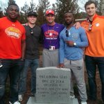 Def. the first time we have appeared on a tombstone. But if we play our cards right, not the last. RT @ClemsonFB: http://t.co/YQzfoqr2Gz