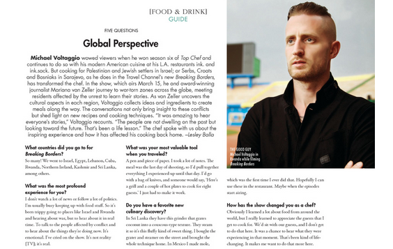 LOVE this @MVoltaggio! Our chat about #BreakingBorders @travelchannel in March @AngelenoMag! http://t.co/uJDZo8VEZ1 http://t.co/W7APhOfxI3