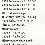 FOLLOWERS TWITTER DAN INSTAGRAM minathub. 089674126654/7DB59CB3.viapulsa/bank #RainSeriesSCTV http://t.co/01mcJG6a2O