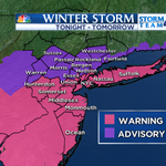 UPDATE! WINTER STORM WARNING FOR #NYC, Long Island & Central &Southern NJ. The latest @StormTeam4NY forecast at 5! http://t.co/dkr2Pkyqkx