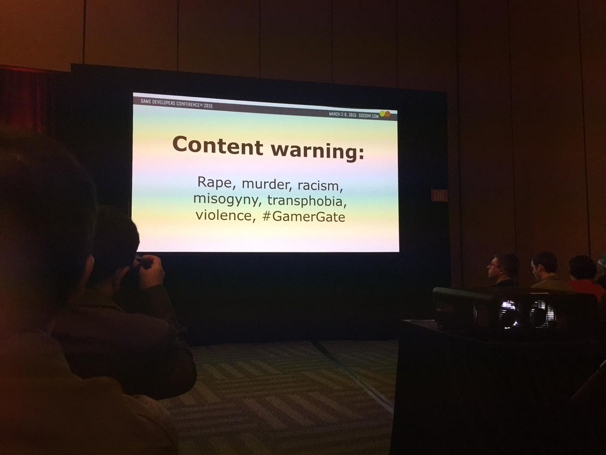 Heed this warning at #gdc2015 panel on online harassment http://t.co/EHfGDYM06a