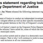 Statement on DOJ #Ferguson report from Missouri @GovJayNixon: http://t.co/vI4xFuFfii