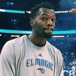 .@d_dedmon3 excited for his 1st start of the season. #PureMagic #NochesEneBeA http://t.co/yRvA3AGhIt