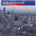 """Hazy near sunset with high clouds also moving in. Air quality has gone from good to """"moderate"""" around #Seattle. http://t.co/ncesLil8u1"""