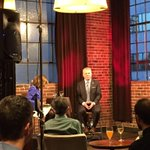 Ready for #CivicCocktail to begin with @Mayor_Ed_Murray in the hot seat! #seattle http://t.co/UjKSvn6LMM
