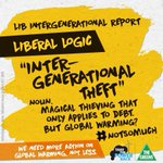 Gov: We must act urgently to avoid intergenerational theft* *Does not apply to climate change. http://t.co/BH4dfaBGXa
