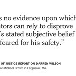 The Justice Dept. cleared Darren Wilson of rights violations in the shooting of Michael Brown http://t.co/BpDDZqqdfs http://t.co/EJct5YfEfU