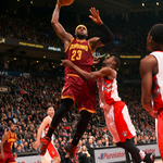 Cavs beat Raptors, 120-112. Cleveland wins 20 of last 24 games. LeBron James: 29 Pts, 6 Reb, 14 Ast. http://t.co/F2195K15pa