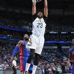 Anthony Davis shoulder seems ok--39 pts, 13 rebs, 8 blks in New Orleans 88-85 win over Detroit in his return http://t.co/Gvpf4V62wa