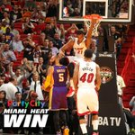 #ELHEATwin! Your @MiamiHEAT defeat the Lakers 100-94 behind @YoungWhitesides 18 points & 25 rebounds! #NochesEneBeA http://t.co/fGGEwRP3CZ