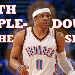 RUSSDICULOUS. Make that 4 straight triple-doubles for Westbrook. First player since MJ to record 4 consecutive. http://t.co/hj9jbVhD5Z