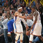 What. A. Game! Russell Westbrook GOES OFF for 49 Pts, 16 Reb and 10 Ast as Thunder beat 76ers in OT, 123-118. http://t.co/KJb0G8iluA