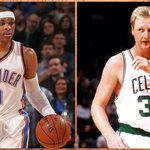 Russell Westbrook's 49 points ties Larry Bird for most points in a triple-double over the last 30 seasons. http://t.co/0L7FX82DRC