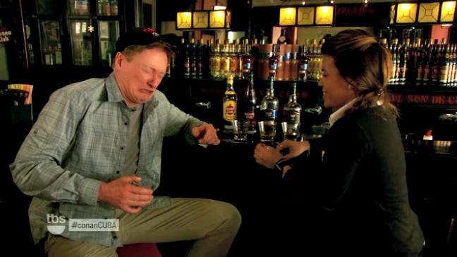 Conan O'Brien Visits Cuba to Roll Cigars, Get Drunk (Video)