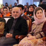 آقا و خانم اول افغانستان Pres @AshrafGhani and first lady @RulaGhani in the ceremony of #InternationalWomensDay http://t.co/JxQ6xn1AT9