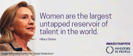 Women are the largest untapped reservoir of talent in the world. - H. Clinton #sharetoinspire #makeithappen #IWD2015 http://t.co/T1tHh6CXTD
