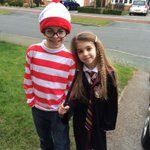 @whereswally @jk_rowling my own little Hermione and Wally for #WorldBookDay http://t.co/Fi4ZmaB5L6