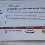 Pronti per la #fatturazione elettronica? Il DDay è il 9 marzo alla Camera di commercio di Genova @Enrige #eccedigit http://t.co/EIErkCDtv6